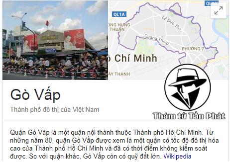 Công ty thám tử quận Gò Vấp